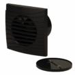 Fürdőszoba ventilátor Dalap Dark 100 mm visszacsapó szeleppel