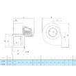 Centrifugál ventilátor 230V. Marelli BA 302