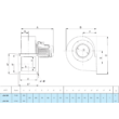 Centrifugál ventilátor 230V. Marelli BA 502