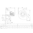 Centrifugál ventilátor 230V. Marelli BA 552