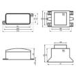Dalap TRS 12 V transzformátor méretrajz