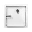 Zárható fém szervizajtó 200x200 mm fehér