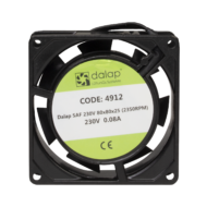 Műszerventilátor SAF-230V AC - 230V/80x80x25 (2350 rpm)