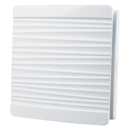 Dekoratív szellőzőrács rovarhálóval, előlappal 160x160 mm, fehér