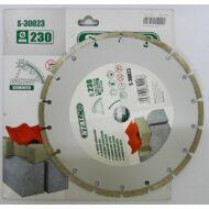Gyémántvágó korong szegmenses 230 mm STALCO