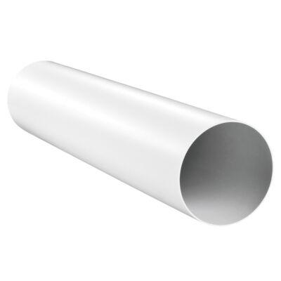 Merev PVC szellőző cső Ø125mm/1m