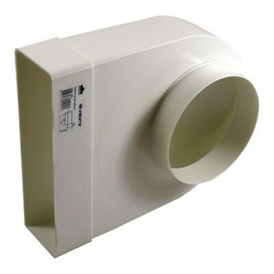 90° átalakító 204x60mm - Ø125mm