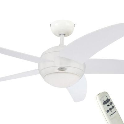 Mennyezeti ventilátor Westinghouse Bendan távirányítású, fehér