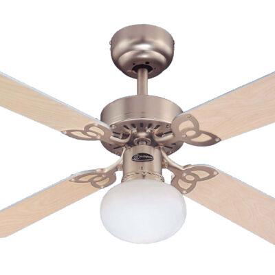 Mennyezeti ventilátor Westinghouse Vegas ezüst, világos juhar