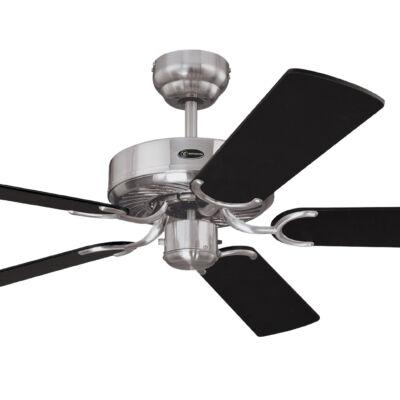 Mennyezeti ventilátor Westinghouse Cyclone fekete, ezüst csíkokkal