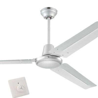 Mennyezeti ventilátor Westinghouse Industrial Silver fali kapcsolóva