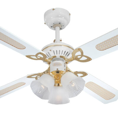 Mennyezeti ventilátor Westinghouse Princess Trio fehér, tölgy