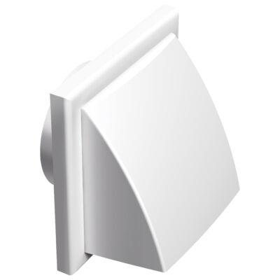 Műanyag szellőzőrács esővédő előlappal, csőcsonkkal 150 mm