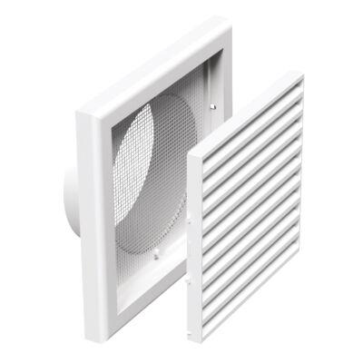 Műanyag szellőzőrács csőcsonkkal 100 mm