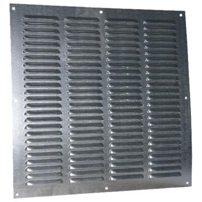 Fém szellőzőrács rovarhálóval 500x500 mm