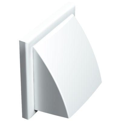 Műanyag szellőzőrács esővédő előlappal 187x187 mm