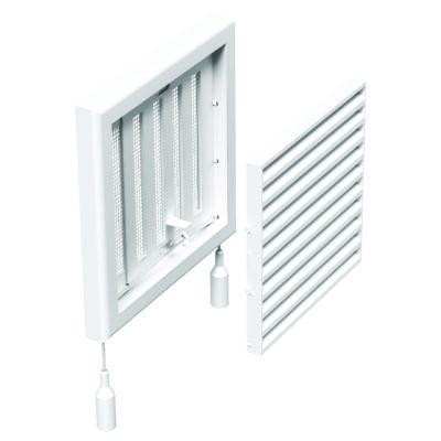Műanyag állítható szellőzőrács rovarhálóval 154x154 mm