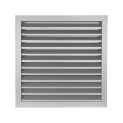 Alumínium szellőzőrács fix zsaluval GRW 400x400 mm