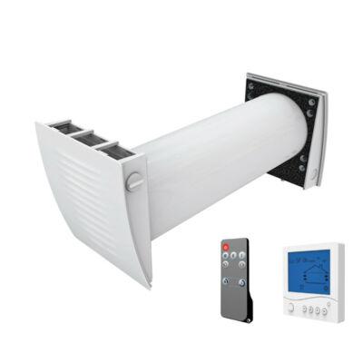 Dalap ZEPHIR SIMPLE egy helyiséges hővisszanyerő távirányítóval és fali vezérléssel